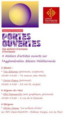 2018-11-18 journée portes ouvertes ateliers d'artistes occitanie