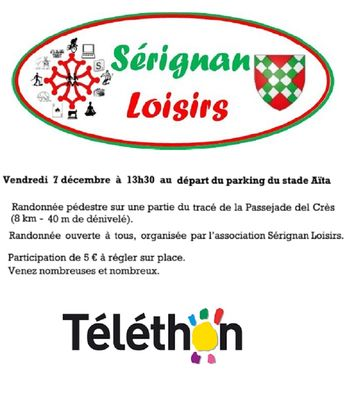2018-12-07 rando téléthon sérignan