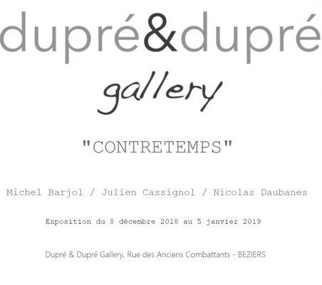 2018-12-08 au 5 janvier 2019 expo contretemps Dupré Béziers
