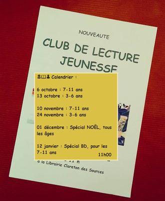 2018-2019 club lecture jeunesse clareton Béziers