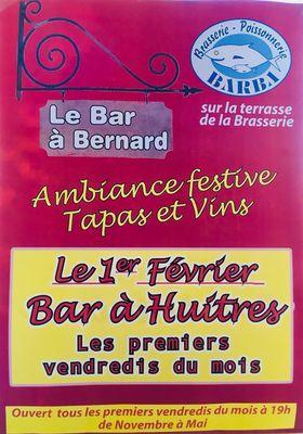 2019- le bar à bernard - bar à huîtres barba béziers