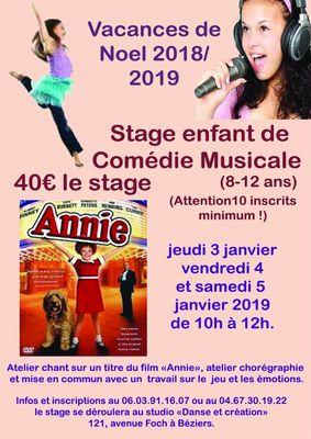 2019-01- stage enfants comédie musicale