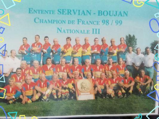 Servian Boujan Rugby 20ème Anniversaire Des Champions 1999