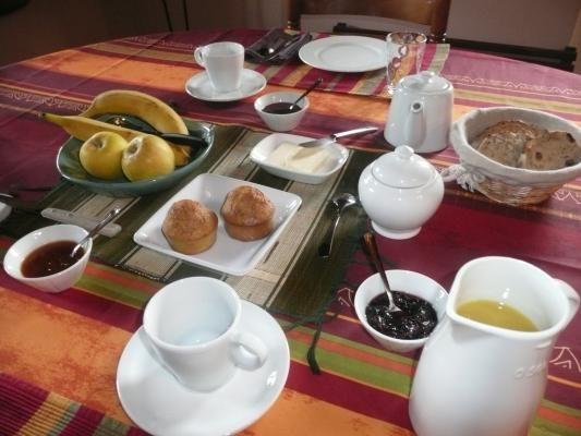 Le moment convivial autour du petit-déjeuner.