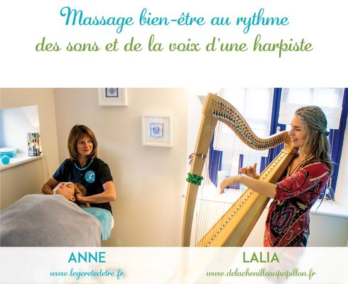 Massage bien-être au rythme de la harpe et de la voix Légereté d'Etre Saint-Malo