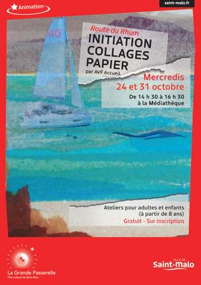 Atelier Collages papier - Saint-Malo - 24et31oct2018
