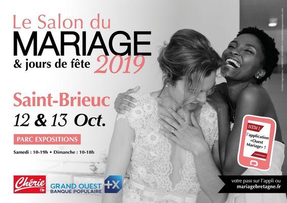 AFFICHE-SALON-DU-MARIAGE-et-jours-de-fete-PALAIS-DES-CONGRES-ST-BRIEUC-12-ET-13-OCTOBRE-2019