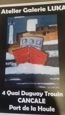 Affiche - Atelier Galerie Luka - Cancale