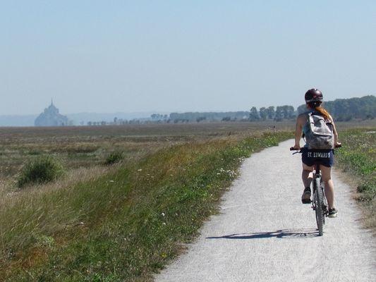 Cycliste sur le Petit Tour de Manche