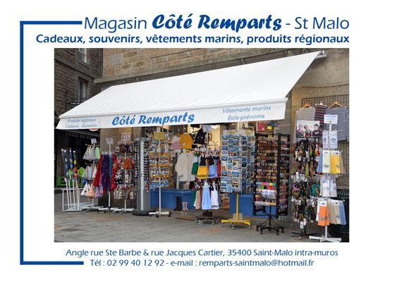 Carte de visite COTE REMPARTS ST MALO
