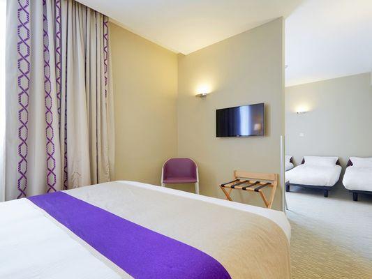 Chambre double violette - Kyriad Prestige - Saint-Malo
