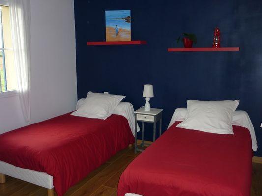 Chambre deux lits - Verger Fleuri - Cancale