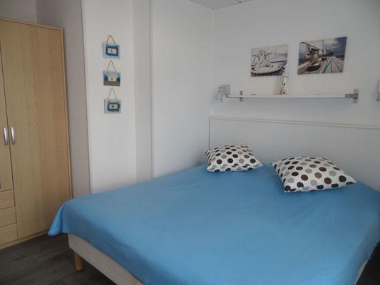 Chambre lit double - L'Artimon - Résidence La Hoguette - Saint-Malo