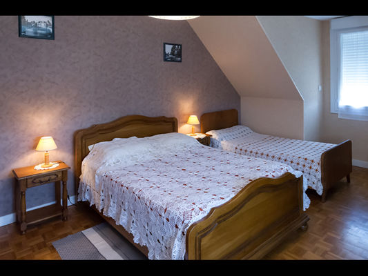 Chambres d'hôtes Mme Michel chambre 2 vue lits - Malestroit - Morbihan Bretagne