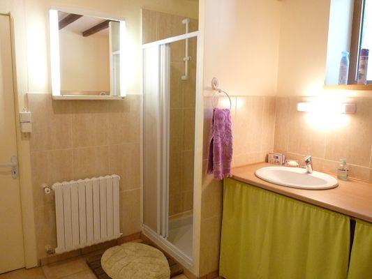 Chambres d'hôtes Métairie de la Béraudaie chambre Bodou salle d'eau - Bohal - Morbihan - Bretagne