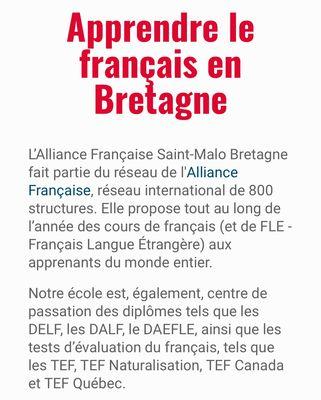 Document - Alliance Française - Saint-Malo