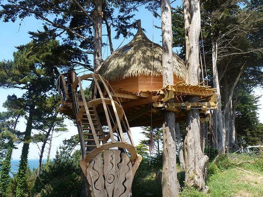 Camping des Chevrets cabane dans les arbres