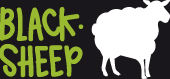 Logo fond noir - Black Sheep Van - Saint-Malo