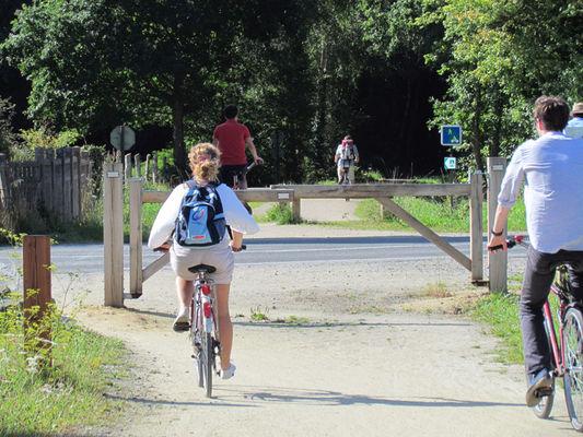 Cyclotouristes sur la V3