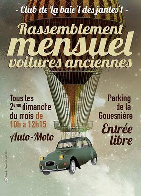 Rassemblement mensuel de voitures anciennes