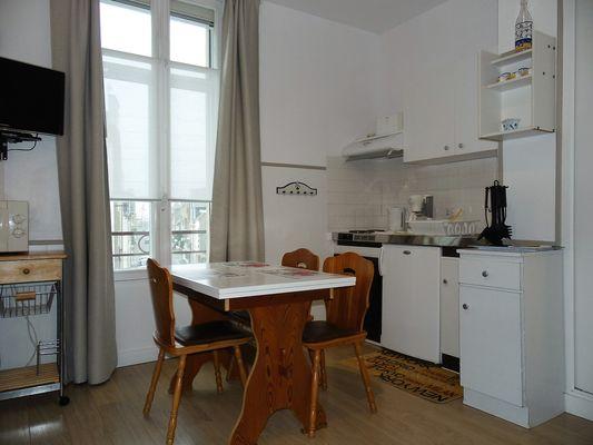 Salle à manger cuisine - le Grappin - Résidence la Hoguette - Saint-Malo