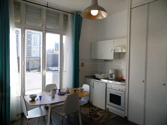Séjour cuisine - L'Artimon - Résidence La Hoguette - Saint-Malo