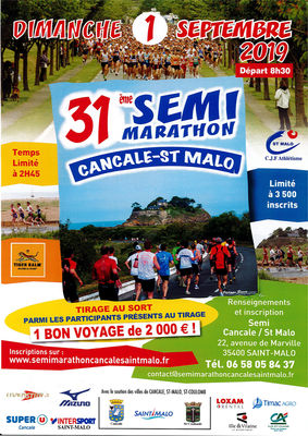 Semi-marathon  - Cancale - 1sept2019