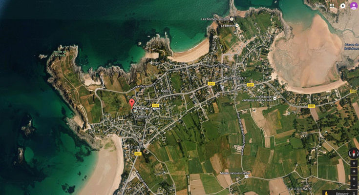 Vue aérienne Earth - Cyprès 90 Mitteaux-Martin - Saint-Malo