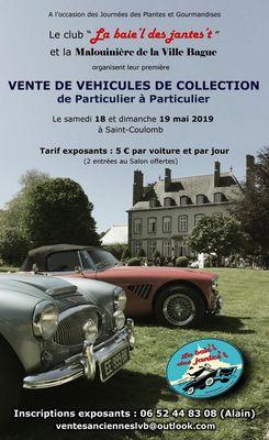 Vente de véhicules de collection 2019