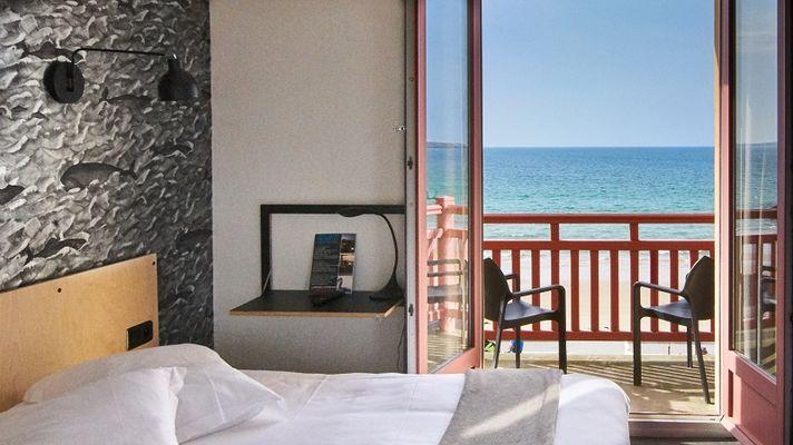 chambre double vue mer-hotel les charmettes -saintmalo