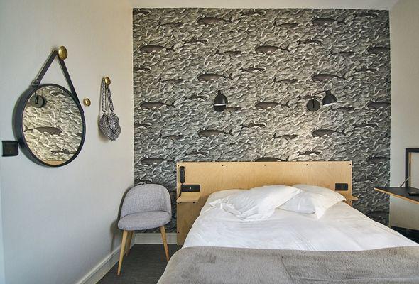 chambre triple vue mer-hotel les charmettes -saintmalo