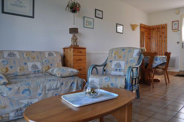 3 Appart. 211 Salon Séjour Résidence la Baie des Corsaires St Malo