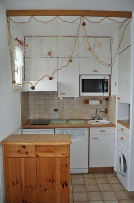 4 Appart. Kitchinette  Salon Séjour Rédidence la Baie des Corsaires St Malo