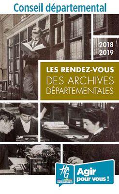 Les rendez-vous des archives départementales 2018