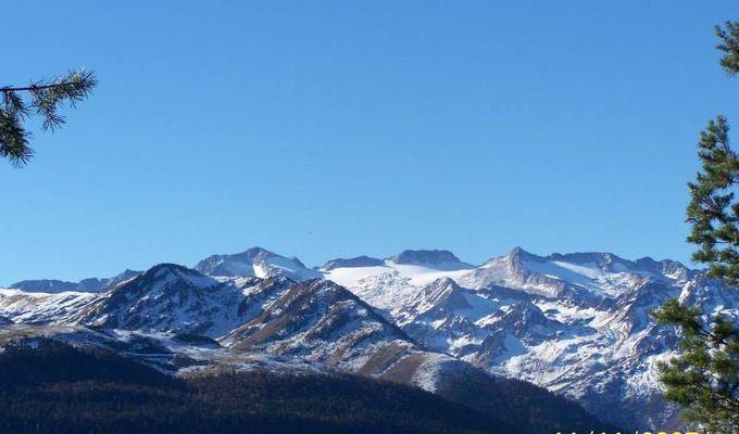 Pyrénées, Massif Maladetta et Aneto depuis la montaña d'Uishèra Val d'aran Michel fourment accompagnateur montagne