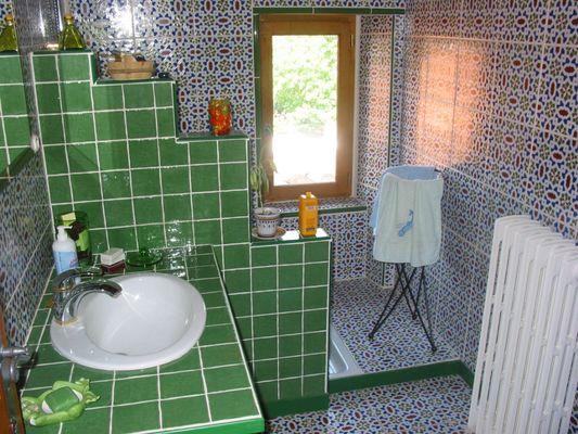 Salle d'eau gite MONTBRUN BOCAGE