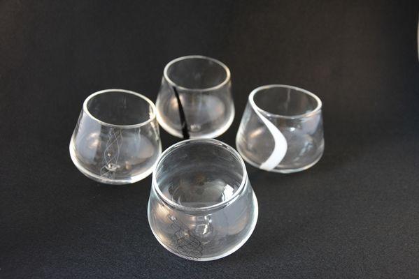 TiPii Atelier narval quatre verre soufflé petit