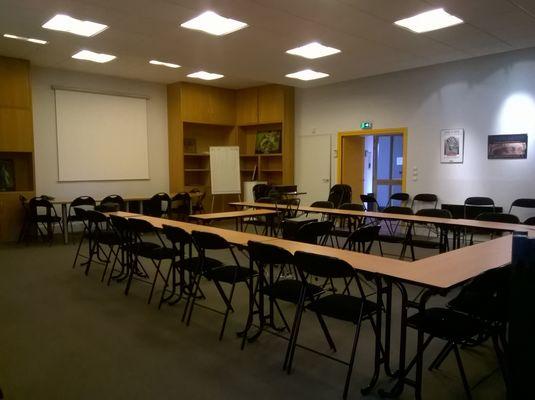 Vue salle réu 1 Olivetains SAINT BERTRAND