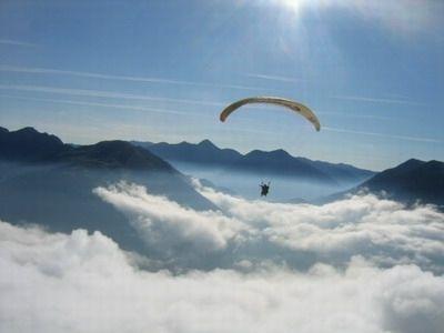 parapente voile nuage TOULOUSE