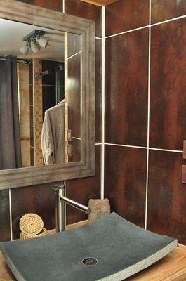 Salle de bain Cuir