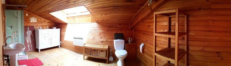Salle de bains 3 - lavabo, cabine de douche, WC