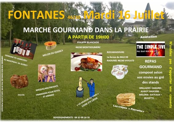 19.07.16 Marché Gourmand Fontanes 1
