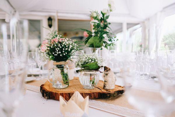 terrasse pour un repas de mariage