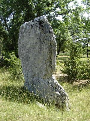 Montgesty : Menhir