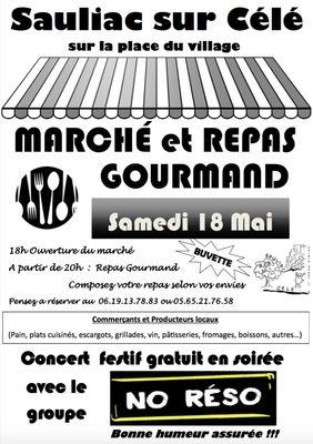 Affiche Marché Sauliac 2019