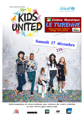 Affiche Kids United Officiel Turenne Vers 2