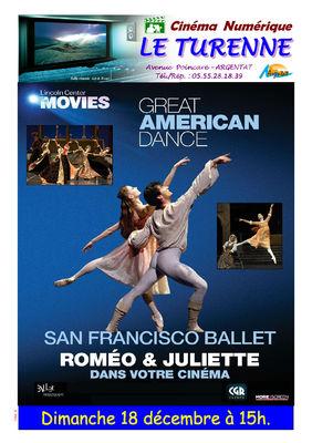 Affiche Romeo Juliette Ballet Turenne Argentat