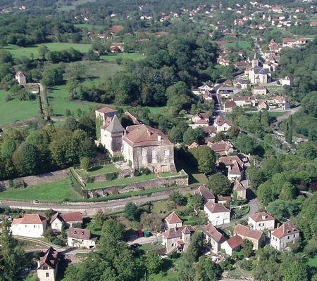 Vue aérienne de Béduer
