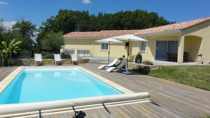 Cantaloube Séverine et Alain - piscine terrasse