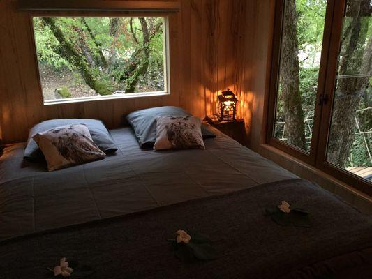 Cabane-Lodge romantique